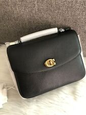 NWT Coach Cassie Crossbody In Polished Pebble Leather (Black/Gold) 68438