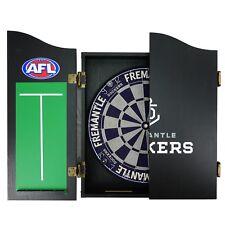 Collingwood Magpies AFL Dart Board Set - Dartboard + Cabinet + Darts Man Cave