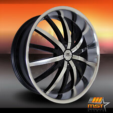 "Set of 4 New MST 22x9.5"" Wheels 5-115 5-120 BMW 5 6 7 Chrysler 300 Charger et18"