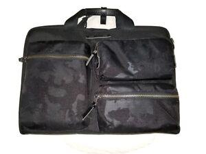 Tumi Dalston Tyssen Double Zip Briefcase, Black Camo, One Size