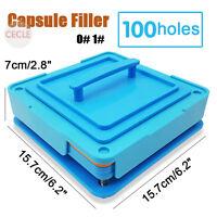 100 Holes Capsule Filler Size 0 1 Capsule Filling Machine Flate Tool Food Grade