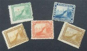 nystamps Nicaragua Stamp # 3//8 Mint OG H / No Gum     S24x828