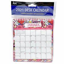 2021 Monthly Spiral Flip Calendar Easel Stand up Desk Top Planner 6.5 X 6