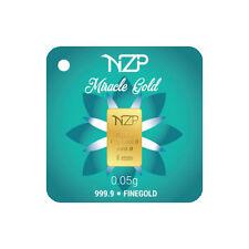 Goldbarren 0,05 Gramm NZP Gold (999,9 Gold Barren 0,05g )NEU