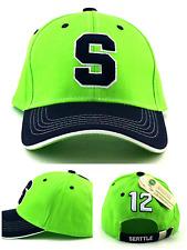 Seattle 12 Fan S New Donegal Bay Seahawks Lime Green Blue Era Adjustable Hat Cap