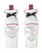 Personalized Will You Be My Bridesmaid / Maid of Honor Wine Bag Wedding Gift