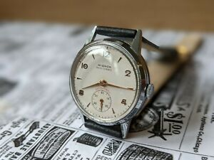 Gents Vintage Mignon Military Style Subsidiary Dial Lance hands Watch - Working