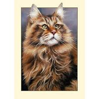 5D Full Diamond Painting Cat Embroidery Cross Stitch Kit Room Decor Mosaic Craft