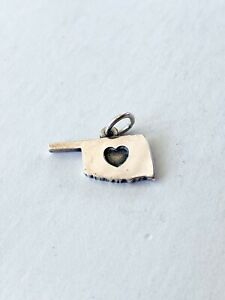 James Avery Oklahoma Heart Sterling Silver Charm 925 State Love Signed
