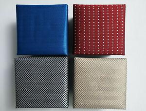 NEU - 4 x  Herren Anlass / Business Krawatte - Fischgrätmuster / Punkte - Paket