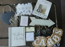 Wedding bundle decorations confetti book signs bunting joblot