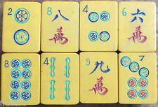 Eight Vtg Chinese Bakelite Mahjong Tiles Crafts, Replacements, Orphans Mahjongg