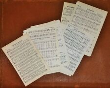 Vintage Small Mixed Sizes Sheet Music Old Hymnal Sheets LOT of 75 Pages