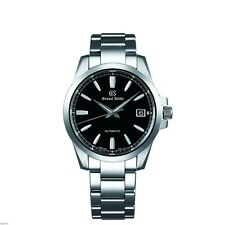 NEW! Grand Seiko SBGR257 Automatic 39.5mm Steel BLACK Dial Bracelet Watch