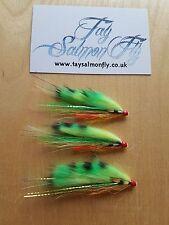 "3x Firetiger Copper Tube 1/2"" Salmon Fishing Flies"
