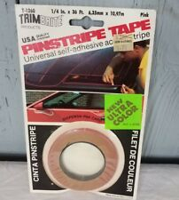 NOS PINK Pinstripe Tape TrimBrite Vintage 1/4 Inch x 36' TRIM BRITE ultra color