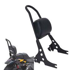 Detachable Passenger Backrest Pad Sissy Bar For Harley Sportster XL1200 883