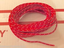 Harley Cloth Covered Red 16 ga Wiring Wire 25 Ft. Knucklehead Panhead