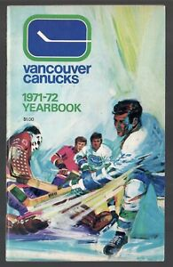 ORIGINAL 1971-72 VANCOUVER CANUCKS NHL MEDIA GUIDE YEARBOOK FACT BOOK