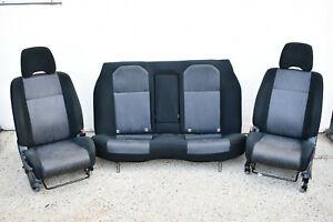 SUBARU GD IMPREZA FRONT & REAR SEATS - SEDAN - BLACK & GREY CLOTH - 01-05