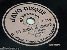 78 tours pour Enfants JAVO Disque : Les CLOCHES de CORNEVILLE - FAUST (la Valse)