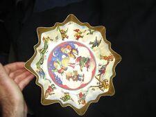 Vintage Austrian German Christmas Pressed Paper Bowl c.1938 Candy Cookie