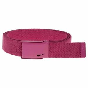 Nike Golf Women's Tech Essentials Web Belt Skinny Adjustable Size Hot Pink New