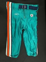 MIAMI DOLPHINS GAME USED TEAL REEBOK FOOTBALL PANTS SIZE 42 BIG BOY RARE!