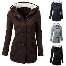 Women's Winter Warm Wool Long Hooded Coat Jacket Trench Parka Windbreaker Tops