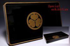 Japan Antique Edo TOKUGAWA gold Makie tray katana yoroi koshirae samurai Busho