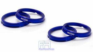 4pc Aluminum **Blue** Muteki Hub Centric Ring 73-60, OD = 73mm to ID = 60mm