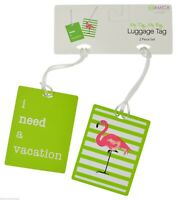 Set of 2 Travel luggage Tags Green