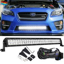"30"" LED Light Bar Lower Bumper Offroad Lights + Wiring For 15-18 Subaru WRX STi"
