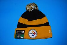 NFL Pittsburgh STEELERS Sport Knit Cuffed Cap with PomPom NWT Beanie One Size