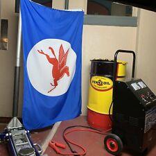 Mobil Gas Pegasus Flag Banner Oil Racing Garage Man Cave Shop NOS Dealer USA V8