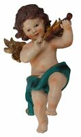 Putte Engelsfigur mit Geige Skulptur Engel 47cm Putto Figur im Antik-Stil