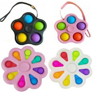 Simple Dimple Push Pop It Bubble Stress Relief Sensory Autism Fidget Spinner