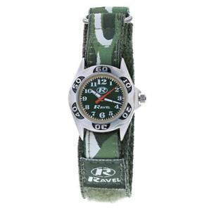 Ravel Children's Camouflage Army Watch Green Dial Easy Fasten Strap R1507 CAMO