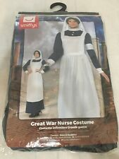 Ladies Great War Nurse Costume Midwife WW1 Nightingale Fancy Dress Outfit XL