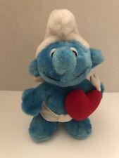 Cupid Smurf Peyo The Smurfs Stuffed Animal Plush Doll Berrie Romantic Heart 1982
