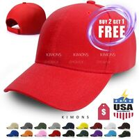 Plain Baseball Cap Solid Blank Curved Visor Hat Ball Army Men Women loop VC