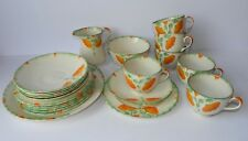 Stunning Original Art Deco Hand Painted Tea Set Made in England