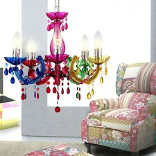 Design Hanging LED Lamp Chandelier 15 Watt Guest Room Multicolour Acrylic