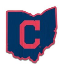 Cleveland Indians Mlb Baseball State Outline Hanging Wall Art Decoration Sign