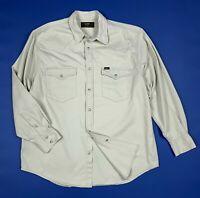 Lee camicia jeans uomo usato L grigio man used manica lunga denim vintage T5975