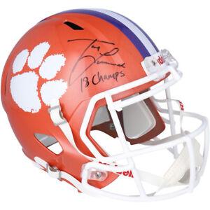 "TREVOR LAWRENCE Autographed ""18 Champs"" Tigers Speed Helmet FANATICS"