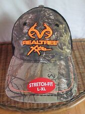 REALTREE XTRA STRETCH FIT CAMO BASEBALL CAP MESH FITTED  L/XL  NWT QUICK SHIP