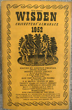 More details for wisden cricketers' almanack 1952 with linen cover