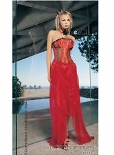 Leg Avenue Red Brocade Oriental China Asian Empress Costume UK 8
