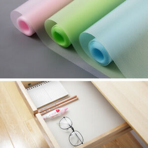 1Roll Refrigerator Mat Non Slip Fridge Pads Washable Kitchen Drawer Shelf Liners